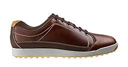 Men\'s Footjoy Footjoy Contour Casual Golf Shoe Brown/Orange Size 11.5 M US