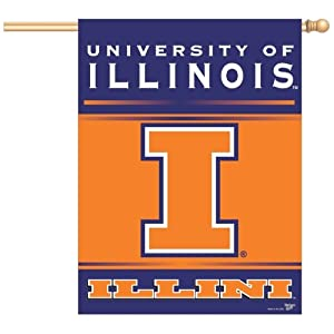 Buy Wincraft Illinois Fightin Illini 27x37 Vertical Flag by WinCraft