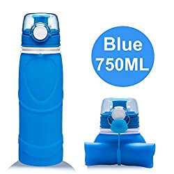 Lepfun S5 Pro Collapsible Water Bottle - BPA Free, 750ML/26OZ, Leak Proof Silicone Foldable Sports Water Bottle for Sport, Outdoor, Travel, and Camping
