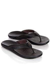 OluKai Hiapo Sandal - Men's Black/Black 7