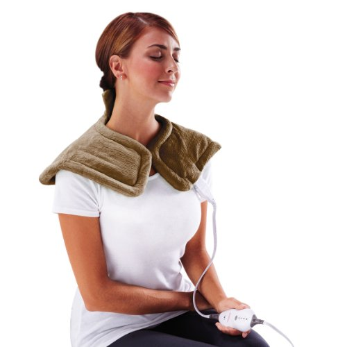 Best Deals! Sunbeam Renue Tension Relief Heating Pad, Brown