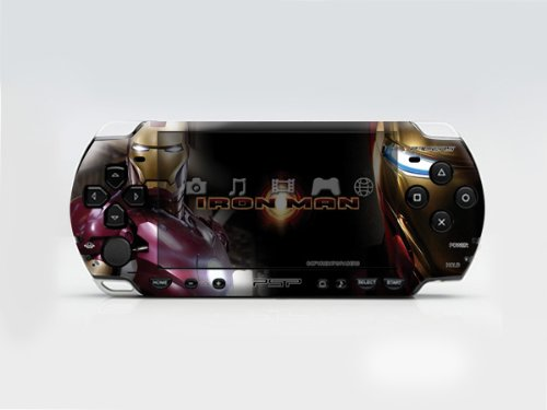 IRON MAN PSP (Slim) Dual Colored Skin Sticker, PSP 2000