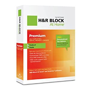 H&R Block At Home 2012 Premium $37.50