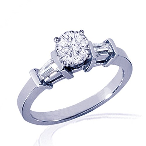 1.30 Ct Round Diamond Engagement Ring 14K SI1
