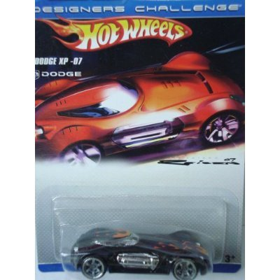 Designers Challenge Dodge XP-07 Hot Wheels Black With Flames Extreme Detail Signiture Issue 1/64 Scale Collector