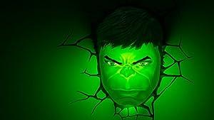 MARVEL 3D lámpara decorativa FX Los Vengadores de cara de luz nocturna LED de pared