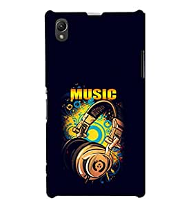 EPICCASE Beat that Music Mobile Back Case Cover For Sony Xperia Z1 (Designer Case)