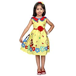 Hawai Yellow Charming Printed Frock