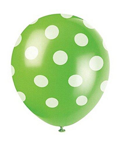 12pcs Green Big Polka Dot Latex Balloons 11 - 1