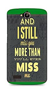 Amez designer printed 3d premium high quality back case cover for Huawei Honor Holly (I Miss You)