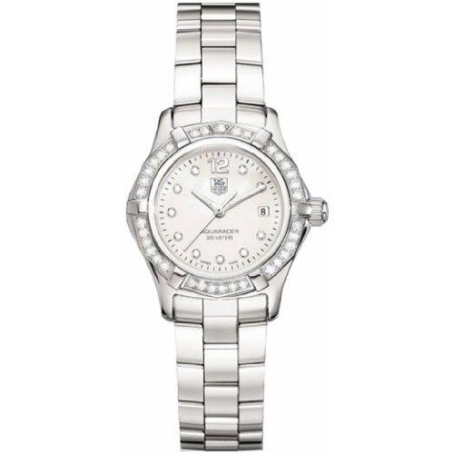 Tag Heuer Women'S Waf1416.Ba0824 Aquaracer Swiss-Quartz Diamond Mother-Of-Pearl Dial