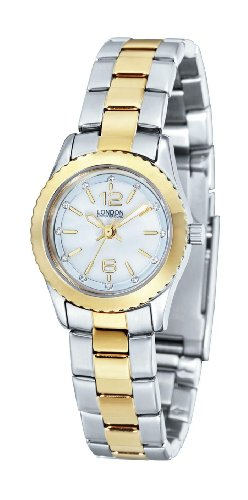 Ladies Two Tone Crystal Watch by London Underground LU-167013-A