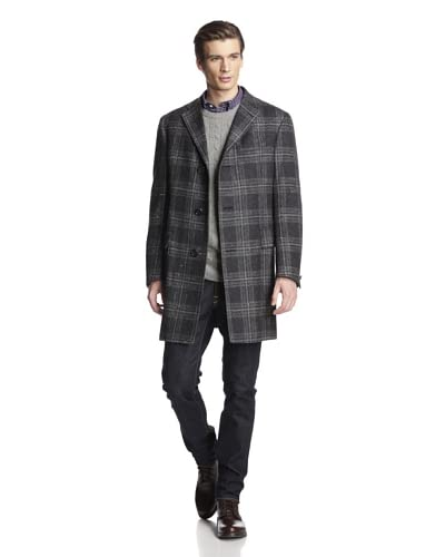 Hickey Freeman Men's Wool Tweed Overcoat