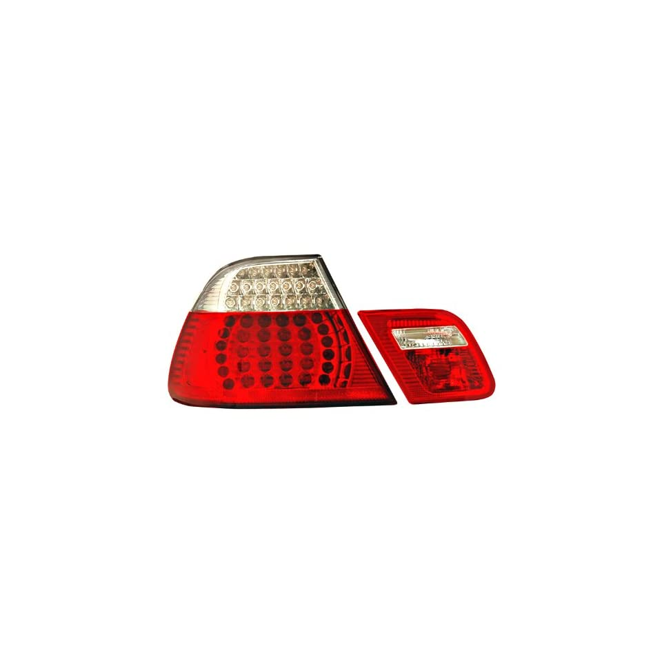 Anzo USA 321185 BMW LED Red/Clear Tail Light Assembly; 4 pc   (Sold in Pairs)
