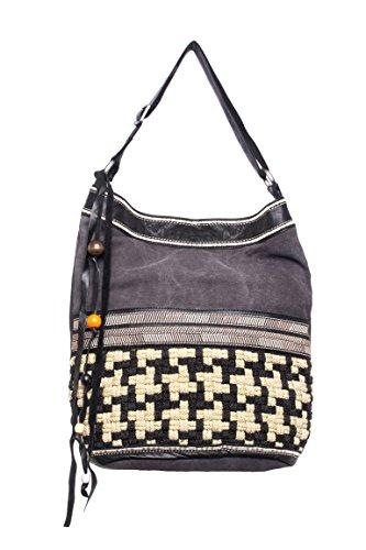 Wanderer Woven Embroidered Bucket Bag