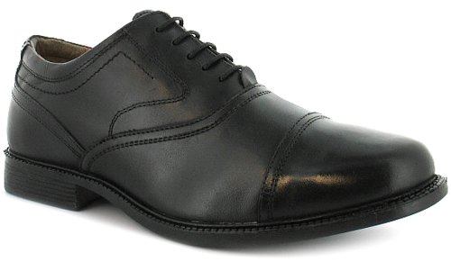 Mens/Gents Business Class Black Leather And Pu Upper Formal Shoes. - Black - UK 10