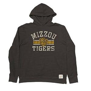 Missouri Tigers Adult Vintage Tribar Hooded Sweatshirt by Retro