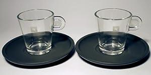 Nespresso Glass Collection: Set of 2 Espresso glass cups (80 ml)