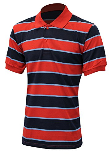 Enimay men 39 s big and tall short sleeve collared polo shirt for Big and tall polo rugby shirts