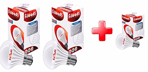 Filoads 3W B22 LED Bulb (Cool Day Light, Pack Of 2)