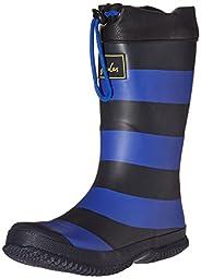 Joules Boys\' Jnr Winter Welly Rain Boot, Slate Blue Stripe, 3 M US Infant