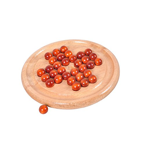 Super Marts Solitaire Games Solid Wooden Board & wood Beads