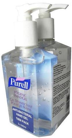 2x Purell Hygienic Hand Gel Rub 240ml images