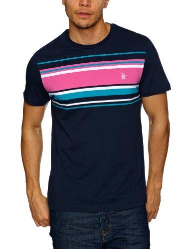 Original Penguin Shortsleeve Eng Stripe Logo Men's T-Shirt Total Eclipse Medium