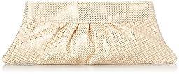 Lauren Merkin Louise Pin Dot Clutch, Cream/Gold, One Size