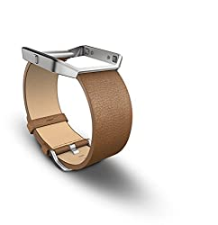 Fitbit Blaze Accessory Band, Large (Leather/Camel)