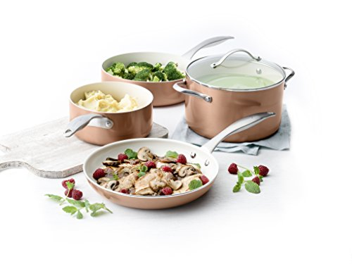 Trisha Yearwood Royal Precious Metals 10 Piece Non-Stick Ceramic Cookware Set, Copper