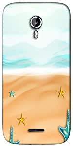 Snoogg abstract summer background Designer Protective Back Case Cover For Micromax A117