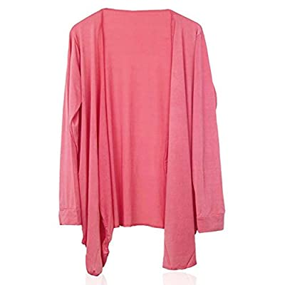 Long Sleeve Ladies Summer Sun Protection Cardigan Tops Blouse Watermelon Red
