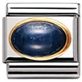 Nomination Composable Classic Semi Precious Stone Oval made of Sapphire, Stainless Steel and 18K Gold