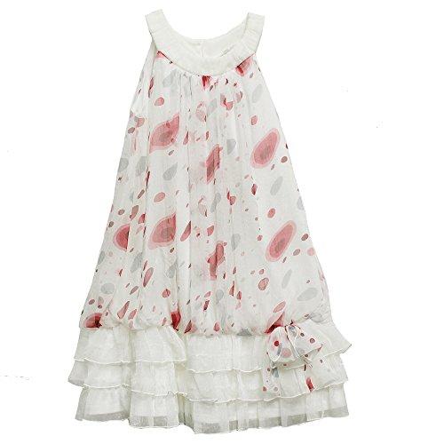 Isobella & Chloe Frill Dress For Girl, White Multi, 6