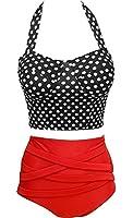 Moonight Cutest Retro Swimsuit Swimwear Vintage Push Up High Waist Bikini Set Stripe