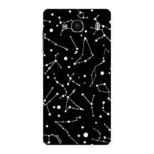 Stylish Constellation Black Back Case Cover for Redmi 2 Prime