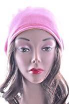 Women Beret Plain Crochet Hat W7353 Pink
