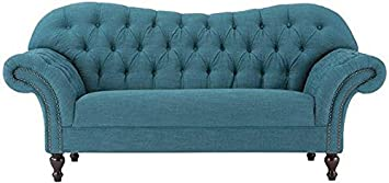 Arden Club Loveseat - 34.5Hx75W - PEACOCK