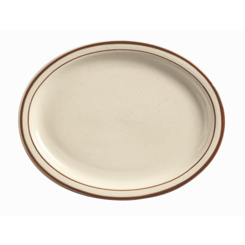 "World Tableware Dsd-14 Desert Sand Nr 13"" Oval Platter - 12 / Cs"