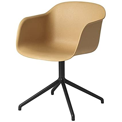 Muuto Fiber Armchair - Swivel Base - Nature / Black