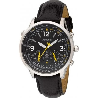 Accurist MS885Y Mens Core Aviator Black Watch