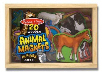 Toy / Game Melissa & Doug 20 Wooden Animal Magnets In A Box - For Keeping You Entertained (Ages 3 Years And Up) front-998734
