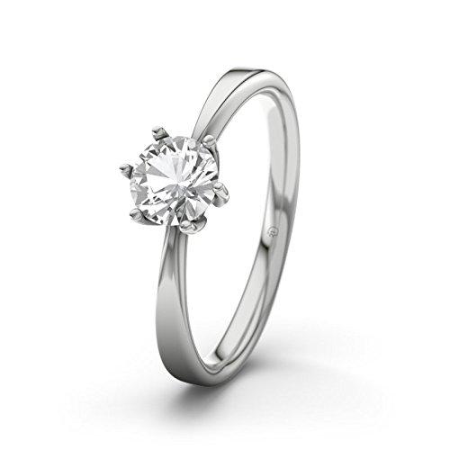 21DIAMONDS Women's Ring Designer Engagement Brilliant Cut White Topaz Ring-Silver Engagement Ring