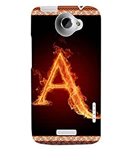 ColourCraft Alphabet A Back Case Cover for HTC ONE X