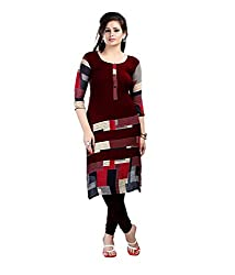 Fashion Galleria maroon printed fency cotton kurti