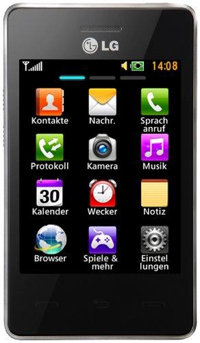 LG T385 Smartphone (8,1 cm (3,2 Zoll) Touchscreen, 2 Megapixel Kamera) schwarz