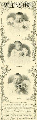 1897 Ad Doliber-Goodale Mellin Baby Food Ramona Boyd Schwer Girl Portrait Moods - Original Print Ad front-1017948