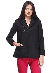 Black Pleated Overcoat