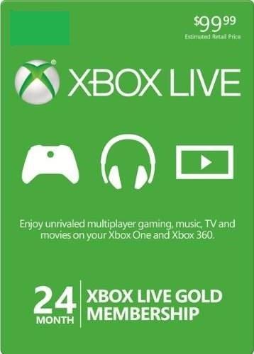 Microsoft Xbox LIVE 24 Month Gold Membership (2 Pack Bundle)